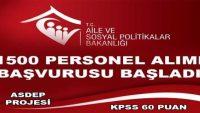 3.459 TL ücretle 1500 personel alımı için düğmeye basıldı Son Gün 15 Nisan