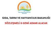 Gıda Tarım ve Hayvancılık Bakanlığı Sözleşmeli Personel Alım İlanı