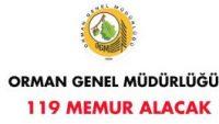 Orman Genel Müdürlüğü 119 Memur Alımı