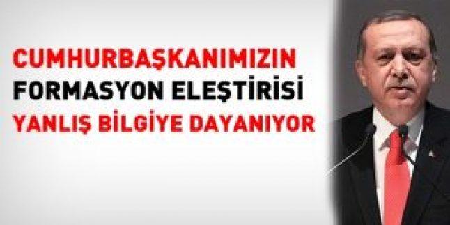 Cumhurbaşkanı Erdoğan'ın formasyon eleştirisi yanlış bilgilere dayanıyor