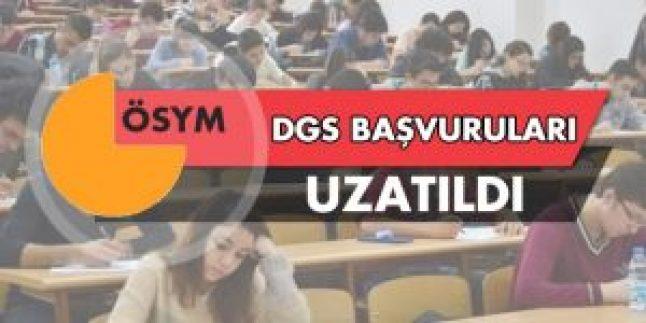 DGS başvuruları uzatıldı