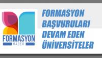 Formasyon Başvurusu Devam Eden Üniversiteler