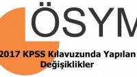 2017 KPSS Kılavuzunda Değişiklikler Yapıldı