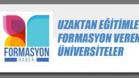 Uzaktan Eğitimle Formasyon Veren Üniversiteler
