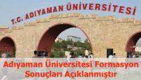 Adıyaman Üniversitesi 2017 Formasyon Sonuçları Açıklanmıştır