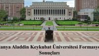 Aladdin Keykubat Üniversitesi 2017 Yaz Formasyon Sonuçları Açıklanmıştır