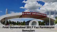 Fırat Üniversitesi 2017 Formasyon Kazananlar Açıklanmıştır