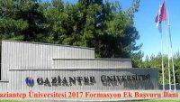 Gaziantep Üniversitesi Ek Başvuru Duyurusu Yayımlamıştır