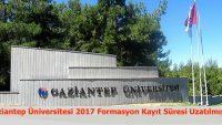 Gaziantep Üniversitesi Formasyon Kayıt Süresi Uzatılmıştır