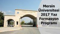 Mersin Üniversitesi Formasyon Duyurusu Açıklanmıştır