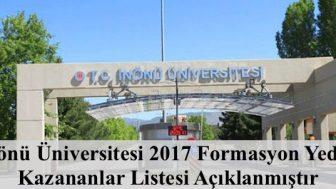 İnönü Üniversitesi 2017 Formasyon Yedek Kazananlar Açıklanmıştır