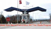 Abant İzzet Baysal Üniversitesi Yaz Okulu Duyurusu