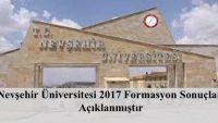 Nevşehir Üniversitesi 2017 Formasyon Sonuçları Açıklanmıştır